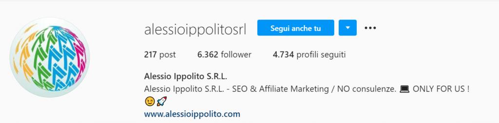 Alessio Ippolito srl Instagram